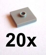 Lego 20 Light Grey Tiles 2 x 2 with Cam 87580 New Tile Light Bluish Grey