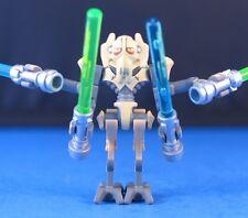 LEGO® STAR WARS™ Clone Wars 8095 / 9515 GENERAL GRIEVOUS™ figure + 4 Lightsabers