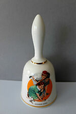 Danbury Mint Norman Rockwell Limited Edition Bell Series-Knuckles Down - Marbles