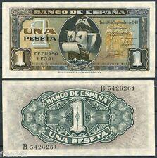 1 peseta septiembre 1940 Carabela Santa Maria SC  /  Spain  Pick 122 a  UNC