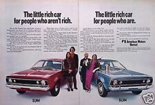 "1970 AMC Hornet A M C ORIGINAL Vintage Ad ""RICH CAR"" C MY STORE   5+= FREE SHIP"