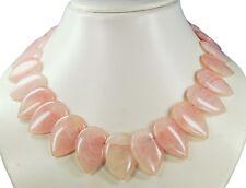 Precioso Cadena de Piedras Preciosas de Cuarzo Rosa en Forma de Gota