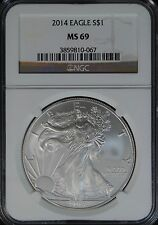 2014 Silver Eagle NGC MS 69 $1