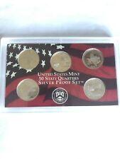 2004 S Silver Proof Quarter Set - 5 Coins - No Box/COA - Free Fast Shipping