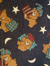 Teddy Bears Sleeping Stars Moons Nightcap Novelty Necktie Neck Tie Renaissance