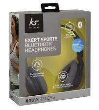 KitSound Exert Sports On-Ear Wireless Bluetooth Headphones with Adjustable Waist