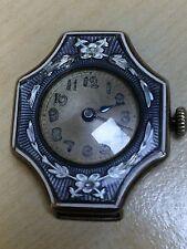 Reloj de Pulsera impresionante Raro Damas Art Nouveau plata esterlina Guilloche Esmaltada