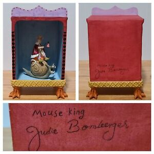 """New! JUDIE BOMBERGER Mouse King & Theater Art SIGNED Sculpture Ceramic 9.5"""" Tall"""