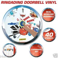 Disney Mcqueen Cars Doorbell Vinyl 40 Wall Stickers Kids Room Decor