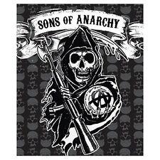 "Sons Of Anarchy Fleece Plush Throw Blanket 50"" X 60"" Brand New SAMCRO Jax Clay"