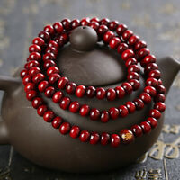 6mm Sandalwood Buddhist Meditation Prayer Bead Mala Bracelet Necklace Buddha