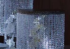 """Crystal Beaded 8"""" round tier ,with acrylic diamond cut For Cake Stand"""