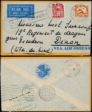 FRENCH INDOCHINA 1933 AIRMAIL HUE SAIGON MARSEILLE.. BOXED CONSOMMEZ Slogan