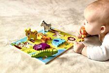 RB&G Holzpuzzle mit großen Teilen - Safaritiere Puzzle für Kinder ab 1 Jahr