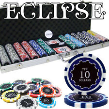 New 600 Eclipse 14g Clay Poker Chips Set with Aluminum Case - Pick Chips!