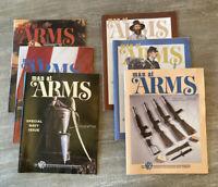 LOT 6 MAN AT ARMS Magazines Complete Year 1987 RIFLE HANDGUN SHOOTING SWORD NRA