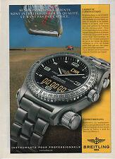 Publicité Advertising 1990  /// montre   l'esprit  BREITLING  EMERGENCY