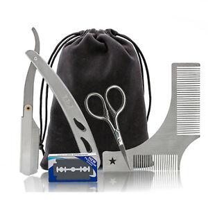 Beard Grooming Kit Trimming Shaving brush Comb Beard Set 4pcs/set