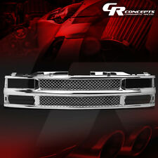 CHROME ABS FRONT BUMPER/HOOD MESH GRILL COVER FOR 88-00 CHEVY C/K/TAHOE/BLAZER