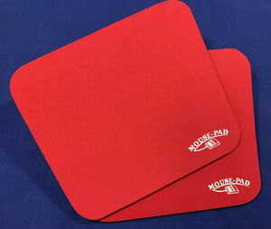 TWO Mouse Mats, red Soft Smooth Foam Roller ball or infra red, 2 pack Pair/Mice