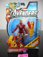 NEW! MARVEL AVENGERS SHATTERBLASTER IRON MAN ACTION FIGURE #18 2012 NIP!! A8-32
