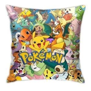 POKEMON Cushion Cover 45 X 45 cm New gift decor kids pillow Pikachu Charizard