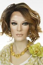 SOM7003 Medium Short Lace Front Monofilament Wavy Wigs