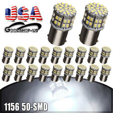 20x White 1156 50SMD Tail Brake Stop Daytime Running  LED Light Bulbs 1073 1141