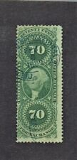 1862-71 U.S.First Issue Revenue Washington 70c Green Foreign Exch Sc#R65c Used