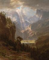 Albert Bierstadt Rocky Mountains Lander's Peak Landscape Print on Canvas Small