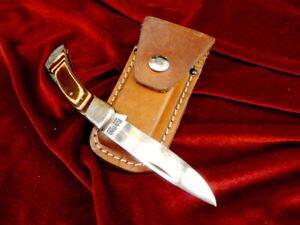 """RARE 1970's KA-BAR USA 1187 LOCKBACK VINTAGE FOLDER KABAR 7"""" POCKET KNIFE & CASE"""