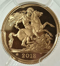 2018 Half Gold Sovereign 65th Ann. PCGS PR69DCAM     ☆☆☆ Only 5100 minted ☆☆☆
