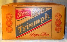 Vintage Storz Triumph Beer Case Thick Cardboard Lager Bottle Box 1950s 16.5""