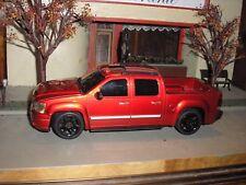 RARE CUSTOM GMC Sierra Denali Toy Pickup Truck 1:24 Red w black wheels FREE SHIP