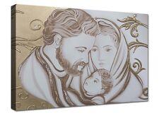 Quadri Moderni Stampa Tela Cm 120x70 Quadro Moderno XXL Capezzale Sacra Famiglia