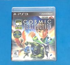 BEN 10 ULTIMATE ALIEN COSMIC DESTRUCTION PS3 MANUAL COMPLETE FREE SHIPPING