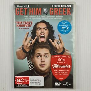 Get Him To The Greek DVD - Russell Brand -Jonah Hill -Region 4 - TRACKED POSTAGE