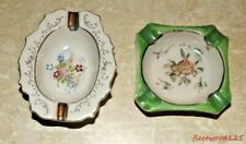 2 Vintage Porcelain Ashtrays Japan Collectible Small / Lot Tobacciana N2