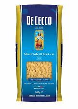 5x Pasta De Cecco 100% Italienisch Mezzi Tubetti Lisci n. 63  Nudeln 500g