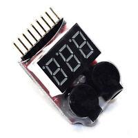 RC Lipo Battery Low Voltage Alarm 1S-8S Buzzer Indicator Tester Checker F6Z5
