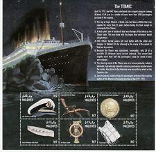 SELLOS TEMA TITANIC MALDIVAS 2666/71  6v. MH