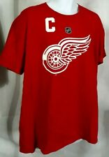"""Detroit Red Wings: Henrik Zetterberg"" Men's *Red* T-Shirt - Adidas (XL) Cotton"