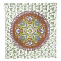 Brown Floral Wall Hanging Tapestry Bedspread Living Room Wall Art Home Decor