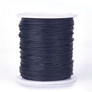 100Yard/Roll Waxed Cotton Thread Cord, Macrame Artisan String for Jewelry Making