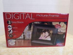 """Smartparts Digital Frame 9"""" x 6.5"""" Smart Parts SP70BRS Black Wood Frame"""