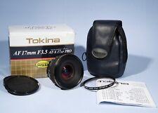 Nikon AF Fit Tokina AF 17mm f/3.5 AT-X PRO Wide-Angle Prime Lens * Near Mint