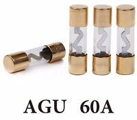 AGU Glassicherungen Sicherung 60 A 4 er-Set Car HiFi vergoldet 60 Ampere 4 Stück