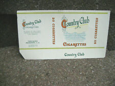 Vintage Country Club Cigarette Tobacco Packaging Label