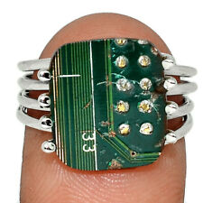 Technogeek USB Circuit Board Computer Chip 925 Silver Ring s.8 AR133126
