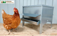 Large Chicken Poultry Feeder Hopper with Roof UK Manufactured
